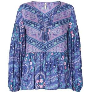 Spell & The Gypsy Collective Tops - NWT SPELL INDIGO CELESTIAL NIGHTS BLOUSE LACE S